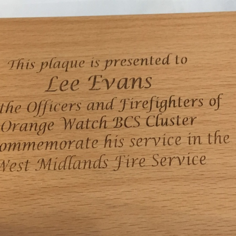 Engraving to board
